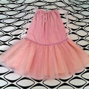 Girls Tutu & Tiara Set Pink size 6 - 6X Handmade